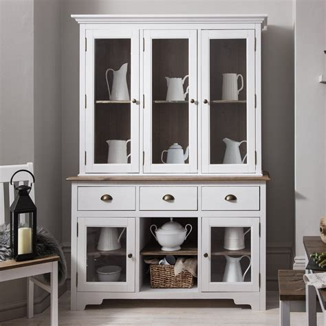 large canterbury dresser top  white  dark pine noa