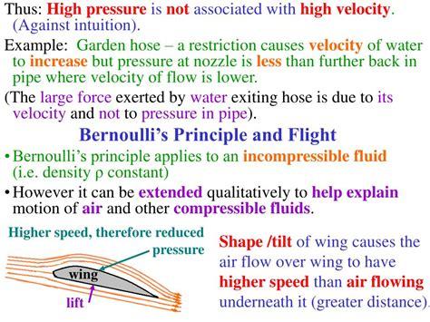 PPT - Recap: Bernoulli's Principle PowerPoint Presentation ...