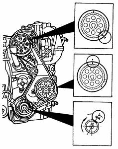 Instructions For 95 Mazda P  U B2300 Putting On Timing Belt