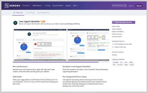 heroku agent user identifier pricing formget features updated