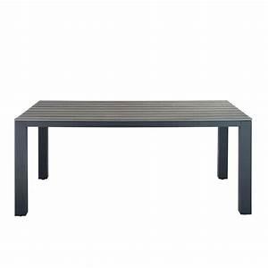 Table De Jardin En Aluminium : table de jardin en aluminium gris escale maisons du monde ~ Teatrodelosmanantiales.com Idées de Décoration