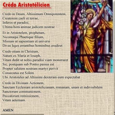 Crédo Aristotélicien Et Autres Prières