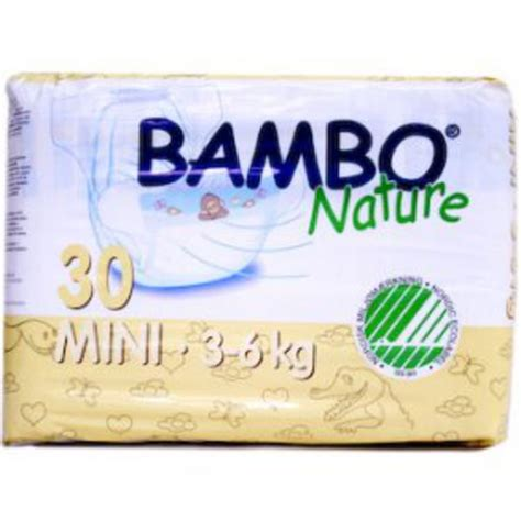 eco nappies mini in 30nap from bambo nature
