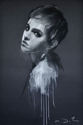 Emma Watson Paintings Mark Demsteader British Vogue