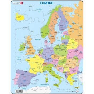 cartable en ligne europe chelles puzzle cadre carte de l europe en fran 231 ais 37 teile larsen puzzle acheter en ligne
