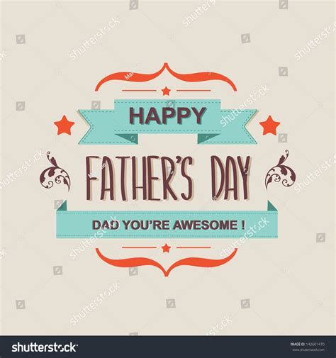 poster happy father s day typography vector illustration 142601470 shutterstock
