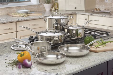 stainless pans pots steel cookware cuisinart chef sets piece classic cooking pot pan kitchen cooks brands cook must place chefs