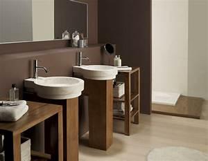 Waschtisch Holz Aufsatzwaschbecken : waschbecken und waschtisch aus naturmaterialien ~ Michelbontemps.com Haus und Dekorationen