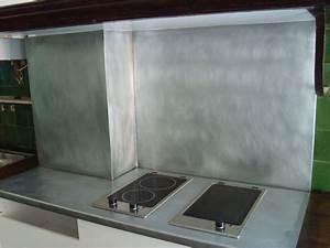 Plan De Travail En Zinc : plan de travail en zinc dans une cuisine le dire c 39 est bien le fer c 39 est mieux ~ Teatrodelosmanantiales.com Idées de Décoration