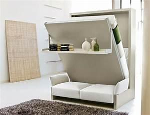 Schrankbett Mit Integriertem Sofa : raumsparendes klappbett smarte sofa systeme ~ Michelbontemps.com Haus und Dekorationen