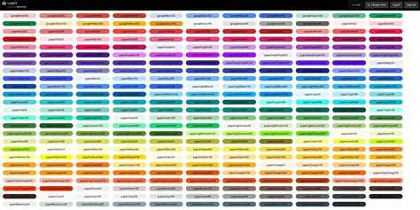 all color react material design styles npm