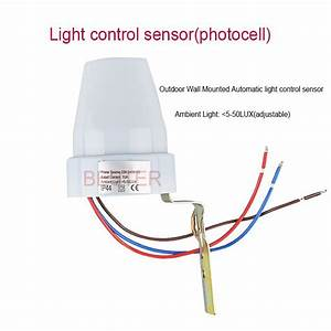 Ajustabel Automatic Inductive Sensor With Photocell 220v