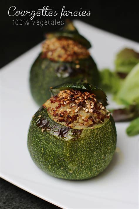 cuisiner courgettes rondes courgettes rondes farcies au quinoa sans gluten vegan