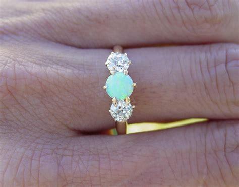 antique opal engagement rings vintage antique opal european engagement ring antique price guide details page