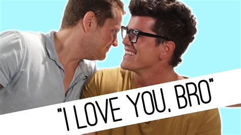 Guys Tell Their Friends I Love You For The First Time
