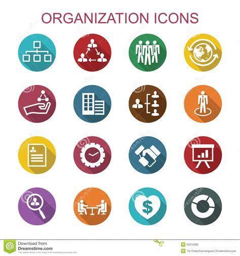icones du bureau longues icônes d 39 ombre d 39 organisation illustration de