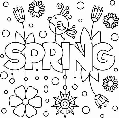 Colouring Activity Positive Spring Printable Cheery Activities