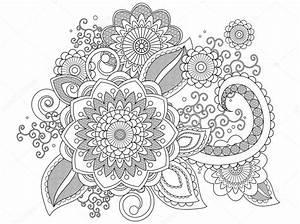 Henna Muster Malvorlagen Stockfoto Smk0473 128480092