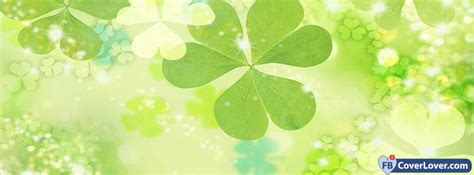 st patricks day green clovers background seasonal facebook