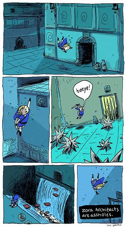 Zelda Comic Ocarina Legend Link Temple Water