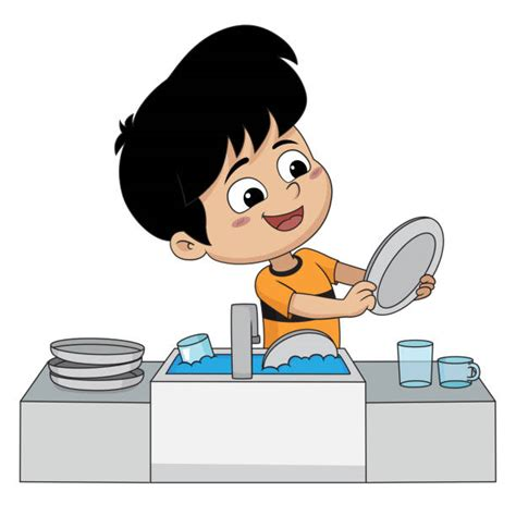 wash the dishes clipart royalty free dishes in sink clip vector images