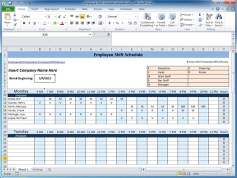 schedules template in excel weekly employee shift schedule template excel schedule