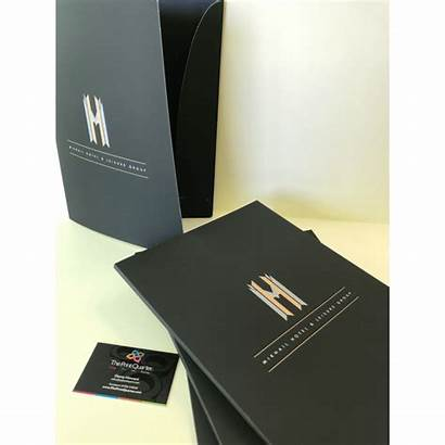 A4 Folders Presentation A5 Laminated Soft Touch