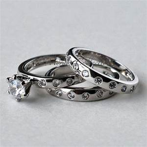 28ct three piece artsy bridal wedding engagement ring With wedding ring sets women
