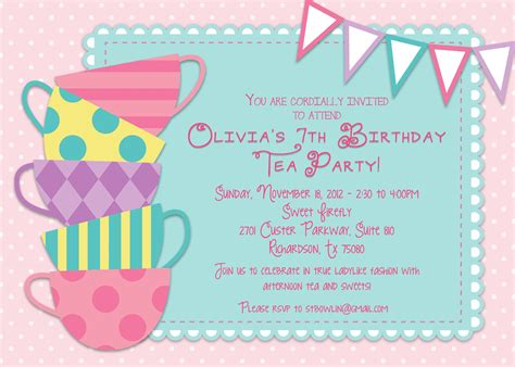 invitation party templates tea party invitations the ultimate guide