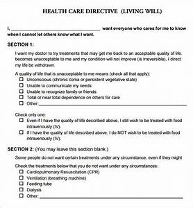 living will template 9 free pdf download With free printable living will template