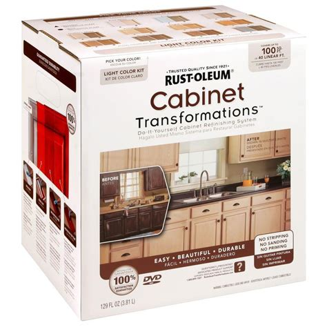 rust oleum transformations light color cabinet kit 9 258109 the home depot