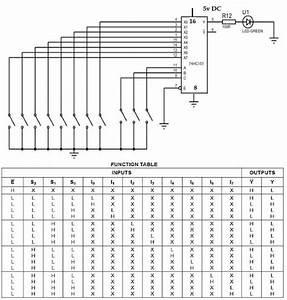 Multiplexer Using Ic 74151