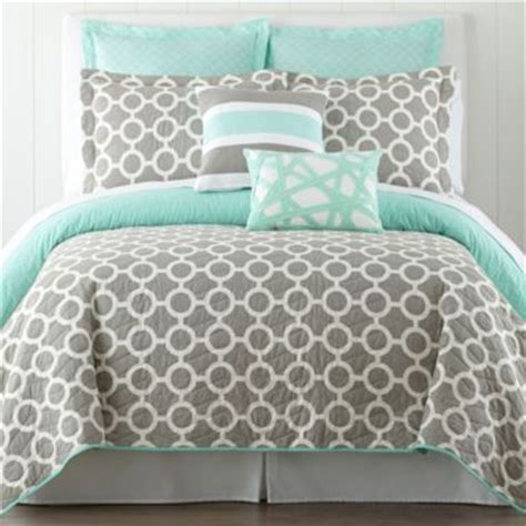 34647 mint and gray bedding happy chic by jonathan adler quilt and accessories