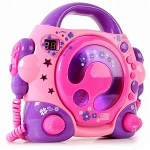 Cd Player Für Mädchen : portable karaokeanlage m dchen cd player 2 mikrofone led display netzteil pink ebay ~ Orissabook.com Haus und Dekorationen