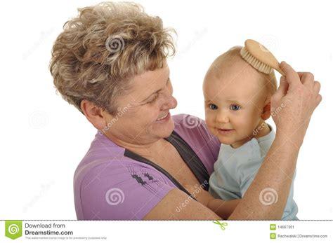 Hair Image by Combing Grandchild Stock Image Image Of Nursing