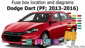 Fuse Box Location And Diagrams  Dodge Dart  Pf  2013