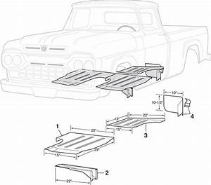 steel cab repair panels 1957 60 ford f100 f250 lmc truck With 1960 ford crew cab