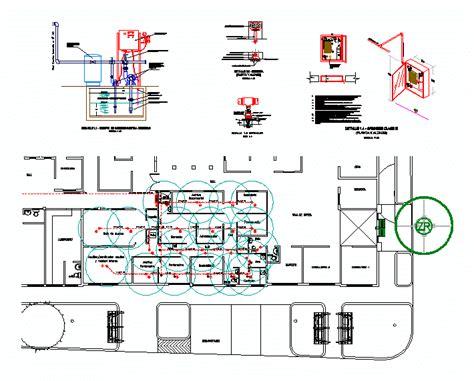 installation design  fire dwg block  autocad