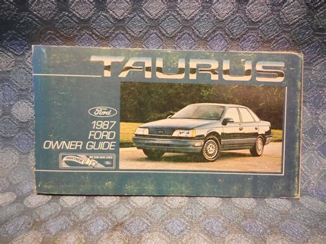 old car owners manuals 1987 ford e series navigation system 1987 ford taurus original owners manual guide nos texas parts llc antique auto parts