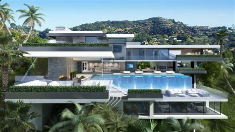 blueprint house plans two modern mansions on sunset plaza drive in la 8 homedsgn