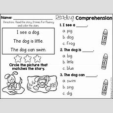 Free Kindergarten Reading Comprehension For Beginning Readers (multiple Choice
