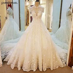 ls66769 sparkly princess wedding dress short sleeves high With sparkly wedding dresses with sleeves