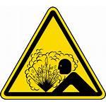 Hazard Symbol Explosion Risk Explosive Safety Pressure