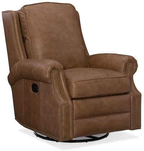leather swivel recliner aaron leather swivel rocker recliner by bradington