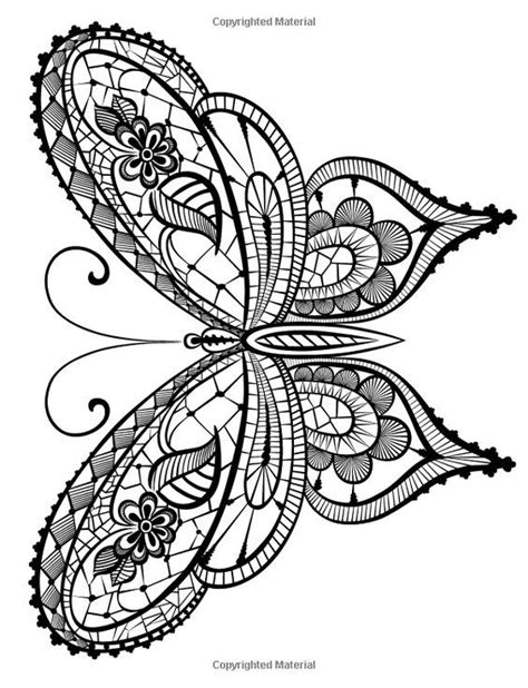 butterfly outline scrollwork coloring book style - Google