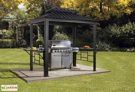 abri pour barbecue aluminium  acier galvanise messina