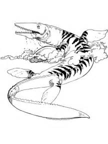 dibujo de mosasaurio tilosaurio  colorear dibujos