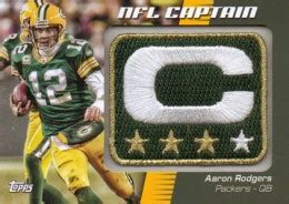 topps football nfl captain patch relic cards