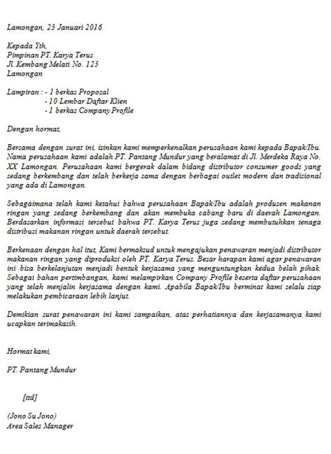 Contoh Surat Resmi Penawaran Barang by Contoh Surat Penawaran Barang Jasa Cara Buat Surat