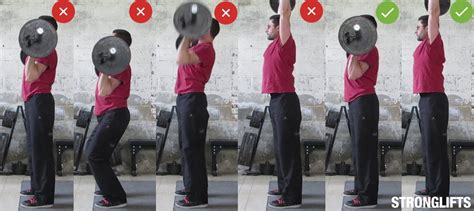 Hurt Shoulder Bench Press by How To Overhead Press With Proper Form The Definitive